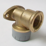 Polyplumb Push Fit 15mm Brass Bib Tap Wall Fixing - 29P15P15